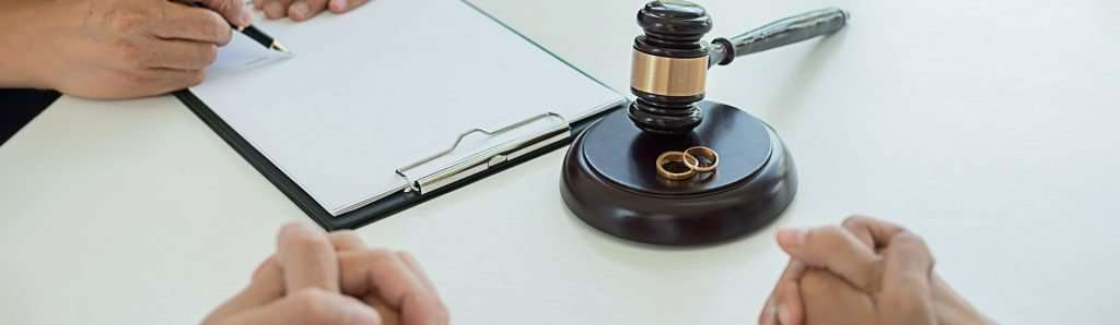 A couple negotiates their divorce decree